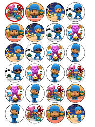 pocoyo cake toppers 24 x pocoyo 2 cupcake cake toppers co uk kitchen home