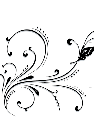 butterfly scroll clip at clker vector clip