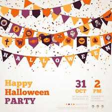 hallowwen flag vintage vector vector halloween free download