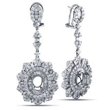 diamond dangle earrings 6 carat fancy diamond dangle earring jackets in 18k