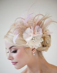 hair fascinators bridal fascinator fascinator ivory gold pink by powderbluebijoux