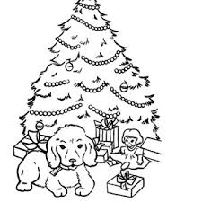 santa claus and his deer decorating christmas trees coloring pages