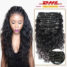 best clip in hair extensions brand dhl 7a water wave clip in human hair extensions wave peruvian