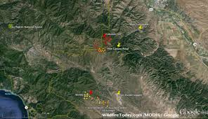 Washington Fire Map by California Coleman Fire Southwest Of King City U2013 Wildfire Today