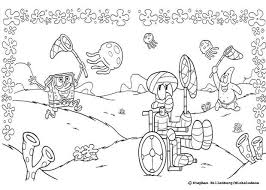 bob patrick star and squidward catching jellyfish coloring page