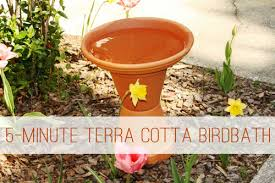 Flower Pot Bird Bath - 5 minute terra cotta birdbath life your way