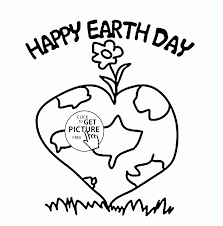 lovely and healthy planet earth day coloring page for kids