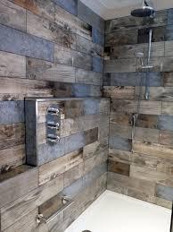 wood look tile shower floor tags applying wood tile bathroom