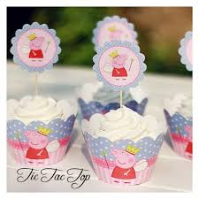 peppa pig cupcakes peppa pig cupcake wrappers toppers