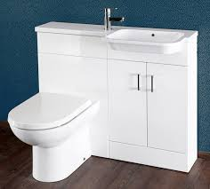 Bathroom Vanity Unit With Basin And Toilet Gloss White 1000mm Vanity Unit And Wc Combination Rh