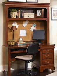 Black Computer Desk With Hutch Louis Collection Cherry Computer Desk And Hutch With Desk Chair By