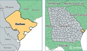 county map ga chatham county map of chatham county ga where is