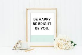 Kate Spade Wall Decor by Kate Spade Be Happy Be Bright Be You Mint And Coral Wall Art