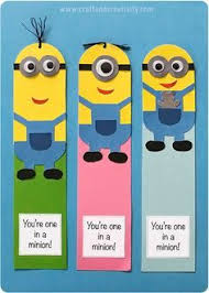 minion bookmarks with template by craft u0026 creativity escolares