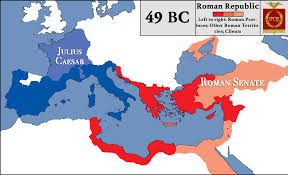 Roman World Map by Roman Republic At The Beginning Of Caesar U0027s Civil War