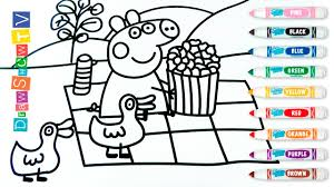 peppa pig coloring book pages l kids fun art l how to draw peppa