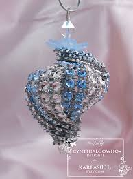 cynthialoowho bling spiral ornament
