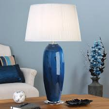 Glass Lamps Table Lamp Charming Blue Glass Lamp Blue Table Lamps â Lamps Blue