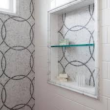 White Brick Shower Backsplash Tiles Design Ideas - Shower backsplash