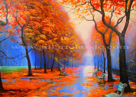 cheap paintings for sale autumn trees