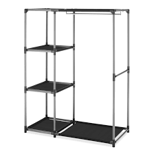 home design garment rack with shelves architects furniture