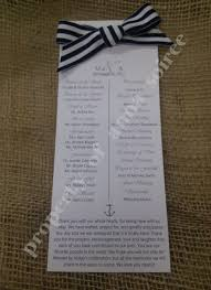 sle wedding ceremony programs nautical theme wedding ceremony programs with specialty