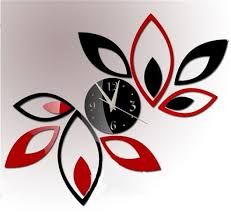 Mirror Wall Decals And Wall by Amazon Com Toprate Mirror Wall Clock Red And Black Rhombus