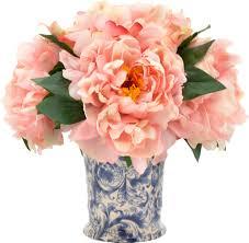 Peony Arrangement Ergonomic Faux Pink Peonies 60 Faux Pink Peonies In Vase Pink