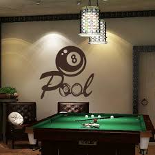 pool table wall art billiards wall decal vinyl art sticker pool wall decal playroom wall