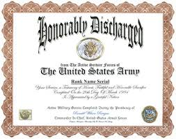 honorable discharge certificate discharge display recognition