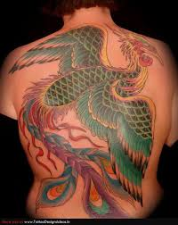 green giant phoenix back tattoo tattoomagz