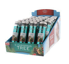 6 tree white winter fir scented ornaments scentsicles
