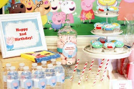 peppa pig party peppa and george pig birthday party part 1