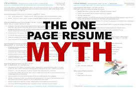 the one page resume myth updated stefan persson pulse linkedin