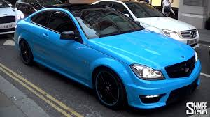 blue mercedes baby blue mercedes c63 with ipe exhaust slide and lots of noise