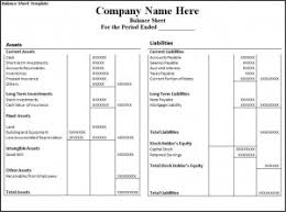 Excel Balance Sheet Template by 6 Balance Sheet Templates Word Excel Pdf Templates