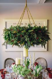 Christmas Decoration For Chandelier by Hanging Wreath Chandelier Tutorial Waiting On Martha