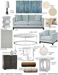 living room furnishings concept board jill seidner interior