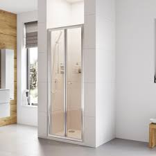 bi fold shower doors and folding shower door enclosures roman showers