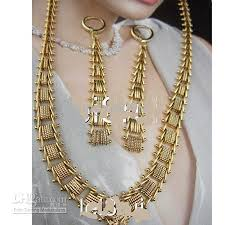 gold necklace womens images Wholesale jewelry sets women 39 s 18k yellow gold filled necklace jpg