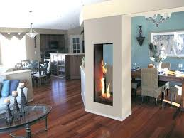 dining table in front of fireplace warmth double sided electric fireplace home ideas collection in 6