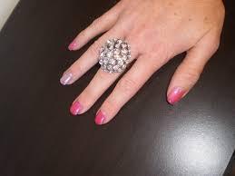 trendy ring finger different color polish best hair salon