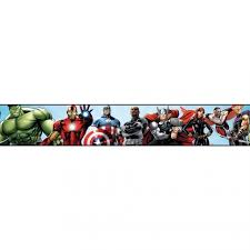 the avengers in action marvel sure strip wallpaper border ds7841bd