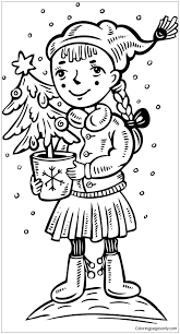 christmas tree coloring free coloring pages
