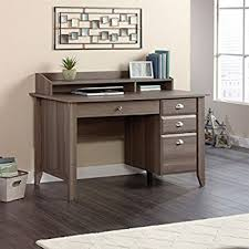 Sauder Corner Computer Desk With Hutch Amazon Com Sauder Barrister Lane Executive Desk In Salt Oak
