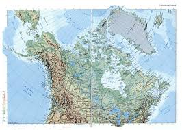 Maps Of Alaska by Large Elevation Map Of Canada And Alaska With Roads And Cities