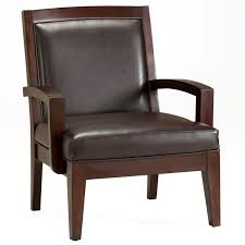 Decorative Armchairs Furniture Brown Wooden Mid Century Side Chair With Arm Plus Brown