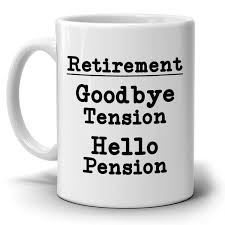 goodbye tension hello pension goodbye tension hello pension humorous retirement gifts