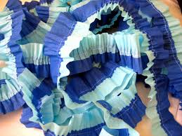 ruffled streamers baby shower ruffled crepe paper party streamers c r a f t