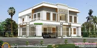 Kerala Home Design 3000 Sq Ft Luxurious Box Type Contemporary Flat Roof Home Kerala Home